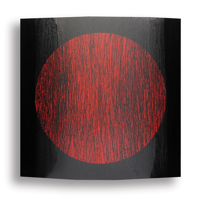 Black with Red Circle